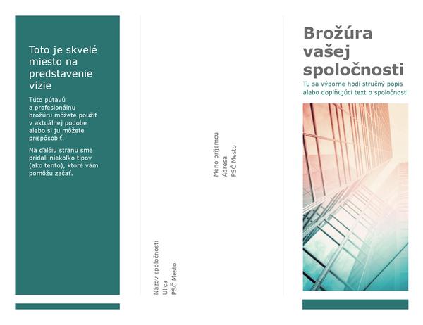 Trikrát preložená brožúra (modrá)