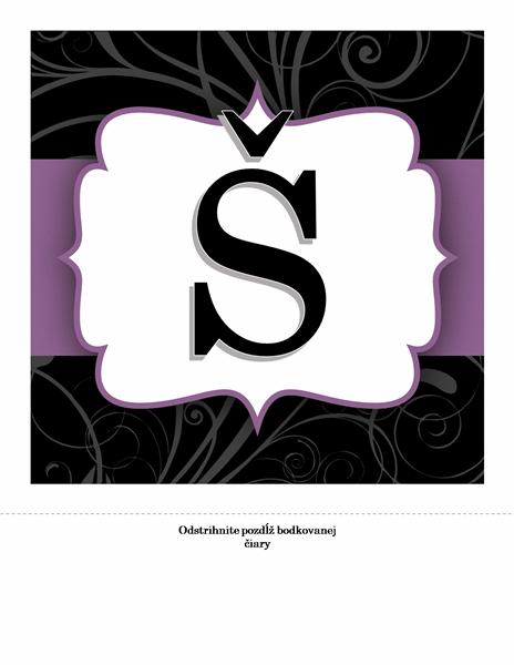 Transparent k výročiu – elegantný