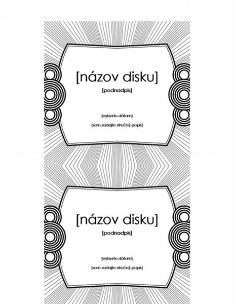 Vkladacie označenie CD disku