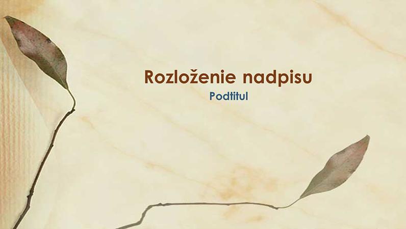 Snímky s dizajnom Lisované listy