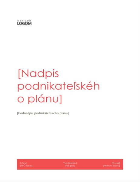 Podnikateľský plán (návrh včervenej farbe)