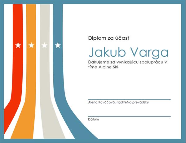 Diplom za účasť