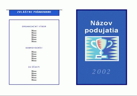 Všeobecný program podujatia