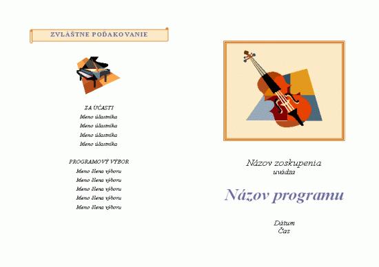 Program hudobného podujatia