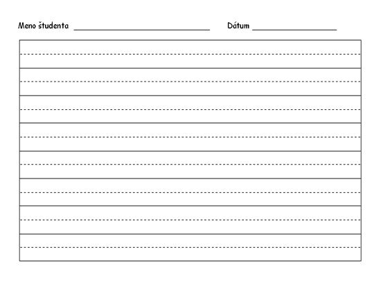 Papier na cvičenie písania