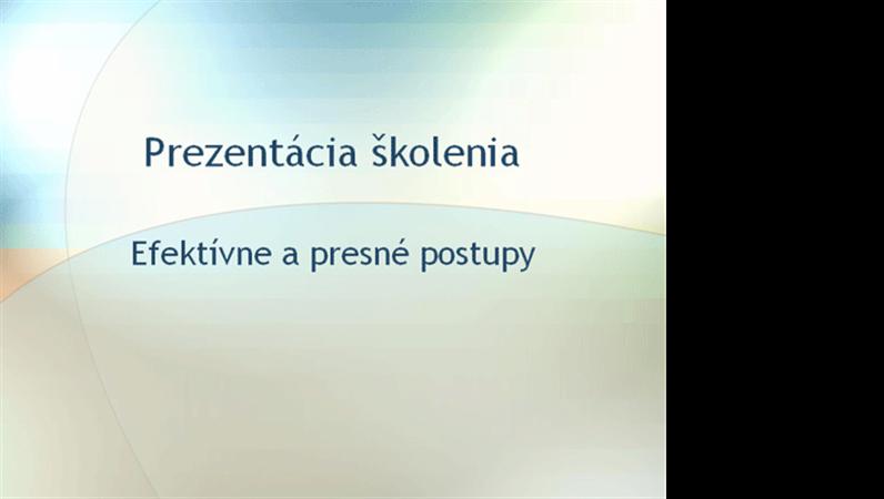 Prezentácia na školiaci seminár
