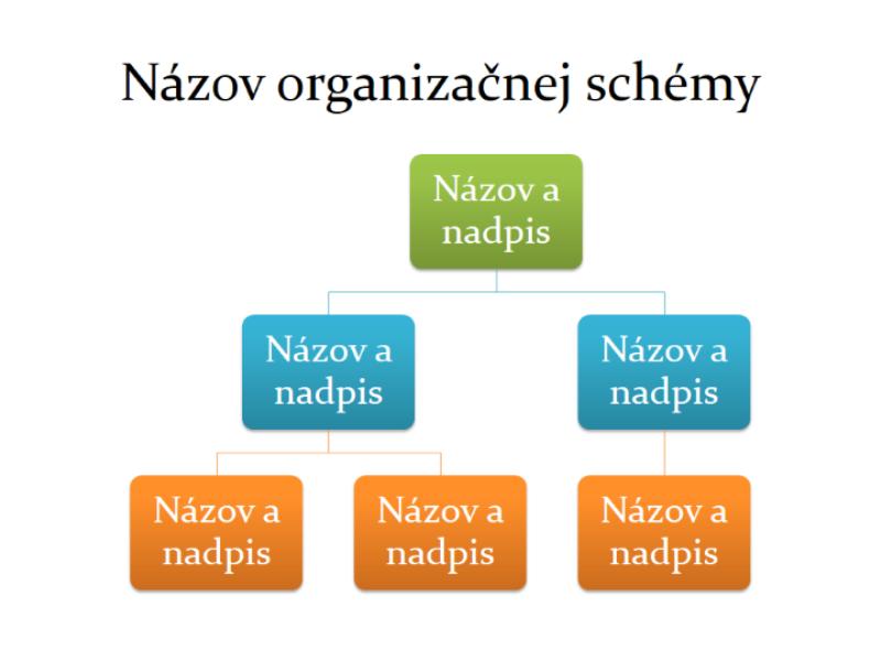 Základná organizačná schéma