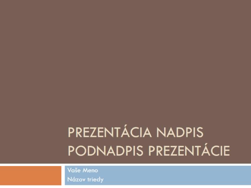 Študentská prezentácia