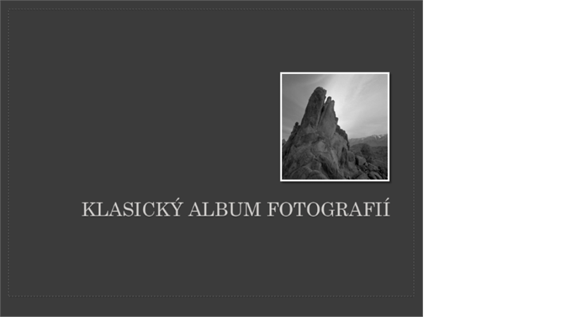 Klasický album fotografií