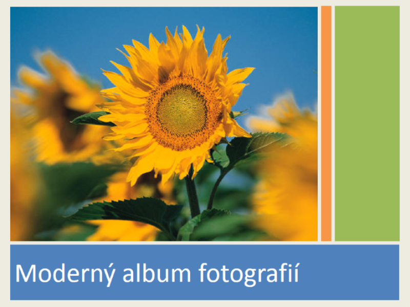 Moderný album fotografií