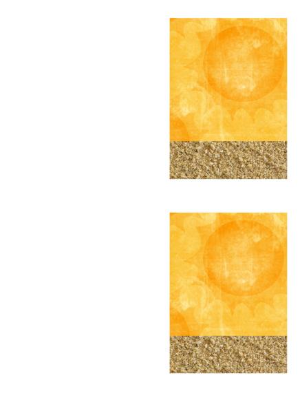 Pozdrav s poďakovaním (návrh s motívom slnka a piesku)