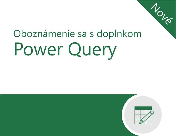 Kurz doplnku Power Query