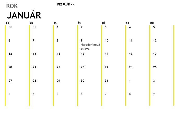 12-mesačný kalendár
