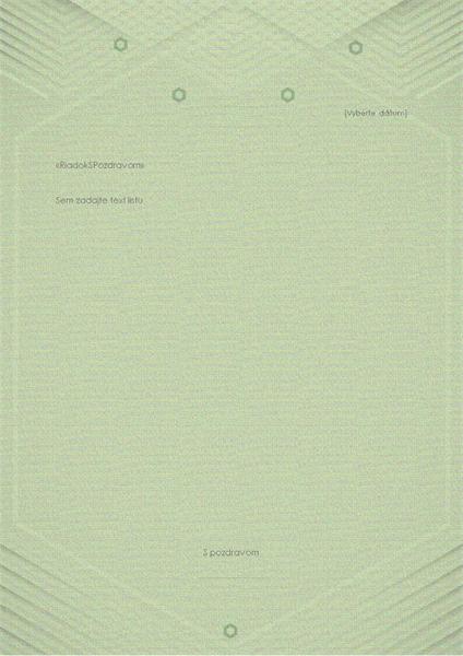 Šablóna osobných listov (elegantný sivozelený návrh)
