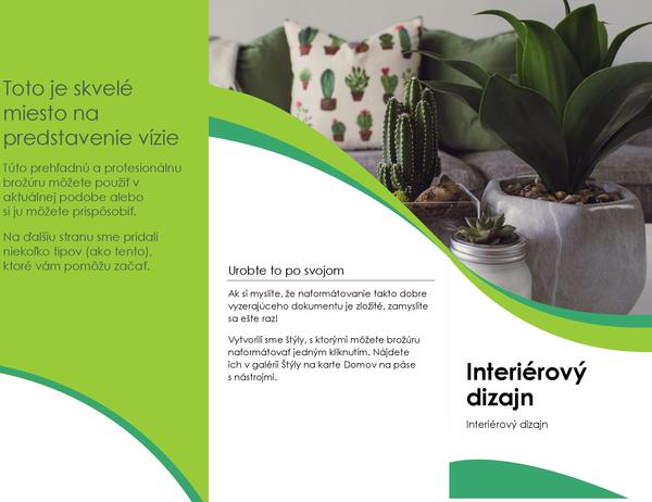 Brožúra interiérového dizajnu