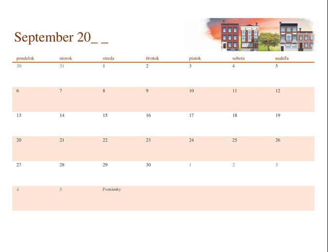 Sezónny ilustrovaný kalendár na ľubovoľný rok