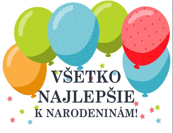 Narodeninový pozdrav s balónikmi
