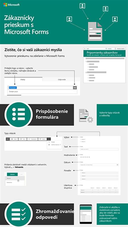 Zákaznícky prieskum s Microsoft Forms