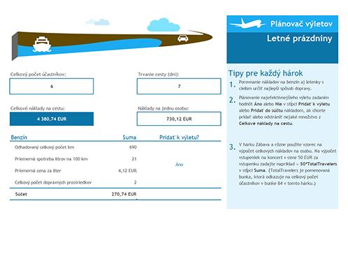 Plánovač výletov