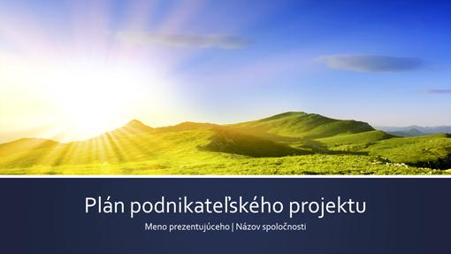 Prezentácia plánu podnikateľského projektu (širokouhlý formát)