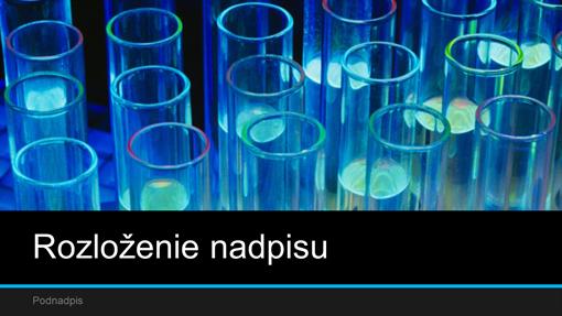 Prezentácia laboratórneho výskumu (širokouhlý formát)