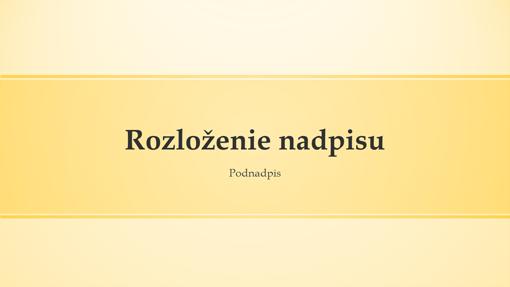 Návrh prezentácie so žltým pruhom (širokouhlý formát)