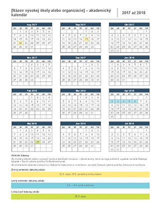 Akademický kalendár na rok 2017 – 2018