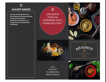 Reštaurácia – brožúra