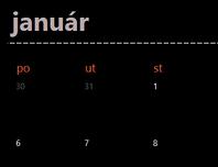 Večný kalendár skartami (čierny)