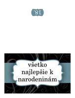 Narodeninový pozdrav (návrh s modrou stuhou zložený napoly)