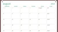 Kalendár na školský rok 2014 – 2015 (august až júl)