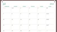 Kalendár na školský rok 2014 – 2015 (júl až jún)
