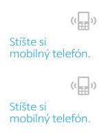 Plagát na pripomenutie vypnutia mobilov