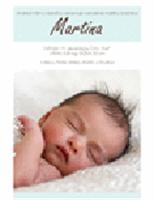 Oznámenie o narodení chlapca