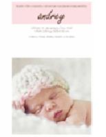 Oznámenie o narodení dievčaťa