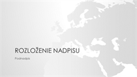 Rad máp sveta, prezentácia kontinentu Európa (širokouhlý formát)