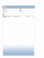 Titulná strana faxu (s motívom modrého prechodu)