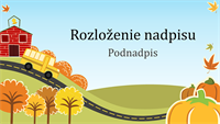 Zábavná jesenná prezentácia (širokouhlý formát)