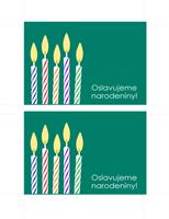 Pohľadnica – pozvánka na narodeninovú oslavu