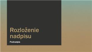 Prezentácia s modrou prechodovou výplňou (širokouhlá)