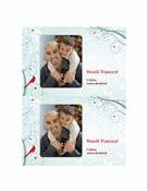 Pohľadnica z dovolenky (návrh so snehovou vločkou)