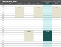 Časový plán študenta