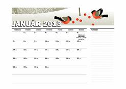 Juliánsky kalendár na rok 2013 (Po – Ne)