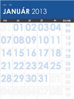 Viacfarebný kalendár na roky 2013 – 2014 (Po – Ne)