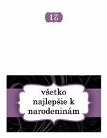 Narodeninový pozdrav (návrh s fialovou stužkou)