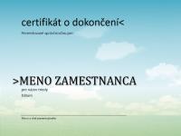 Certifikát o dokončení kurzu