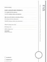 Úvodná strana faxu (zdobený vzhľad)