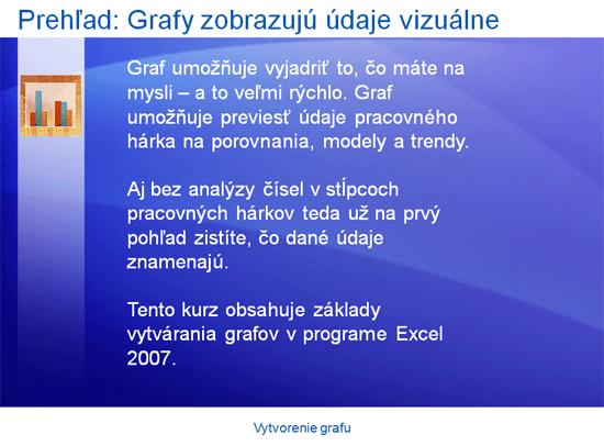 Inštruktážna prezentácia: Excel 2007 – Vytvorenie grafu