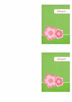 Pozdrav s poďakovaním (kvetinový návrh)