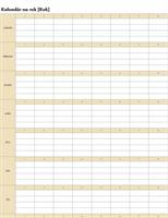 Nekonečný kalendár (vodorovný)